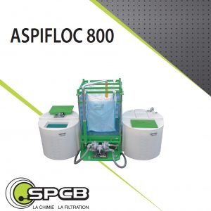 Storage tank with transfer pump for paint, glue, ink and resin flocculation – Aspifloc800