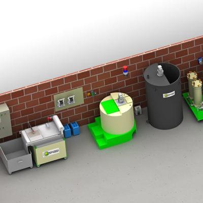 Bureau ingénierie de traitement des eaux de process industrielles, peintures, colles, teintes, vernis