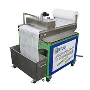 Skimmer d'écrémage des eaux de cabine de peinture par flottation / Station de déshuilage des eaux de dégraissage