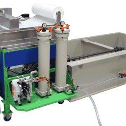 Déshuilage de bains de dégraissage relargants / Microfiltration et deshuileur de bains de dégraissant lessiviel